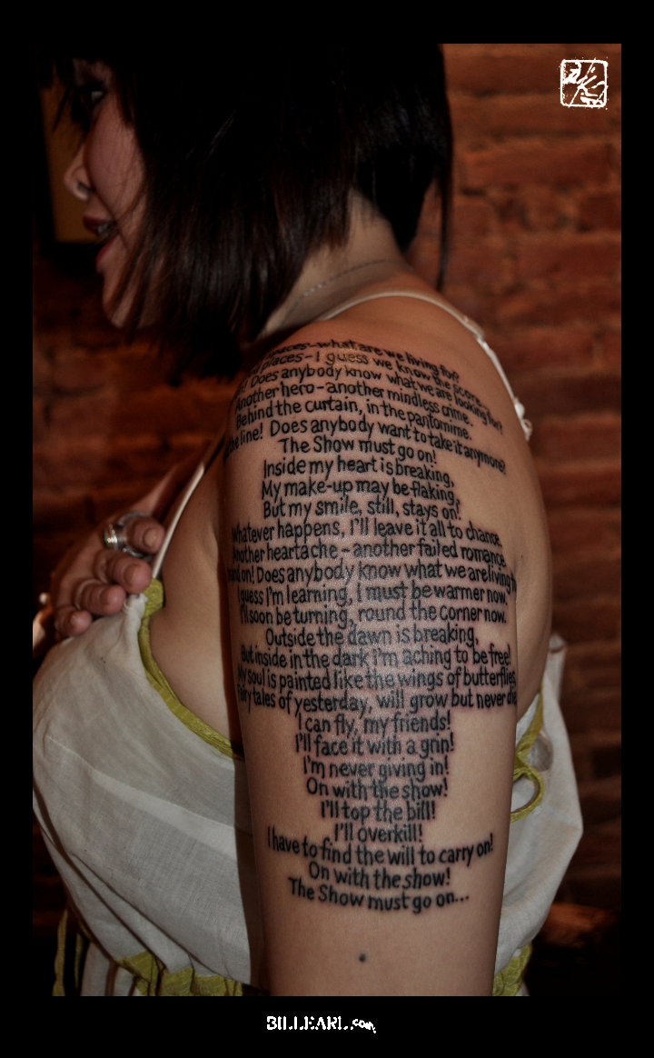 queen lyrics tattoo - photo #13